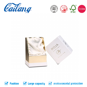 White Paper Gold Stamping Logo for Perfume Packaging